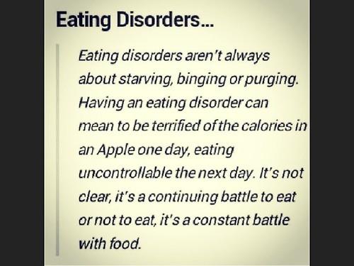eating disorder constant battle