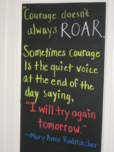 courage doesnt always roar