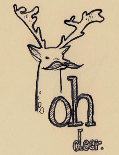 mustache reindeer