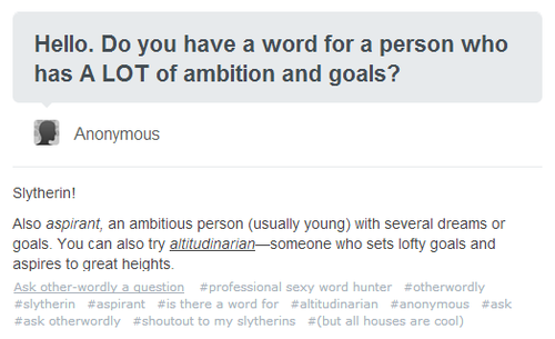 ambition and goals