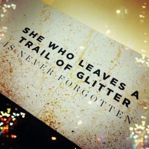 impression lasting glitter