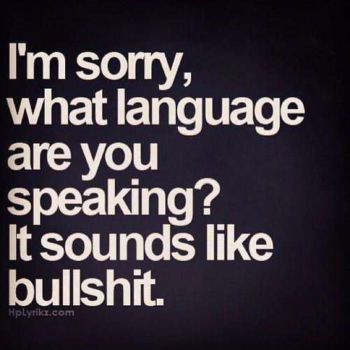 bullshit language