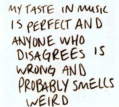 music taste weird