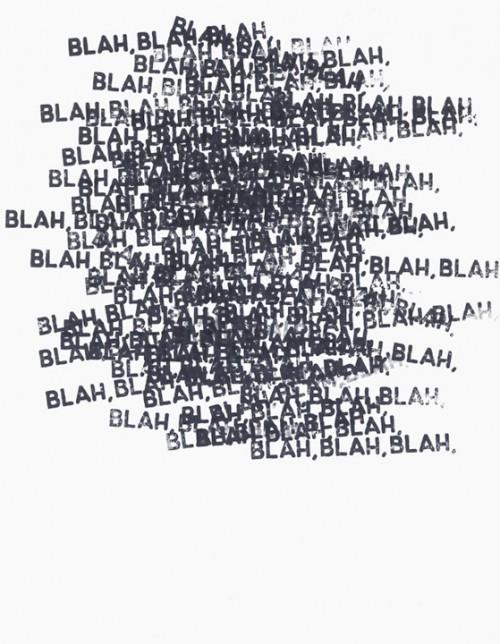 bla bla bla lots