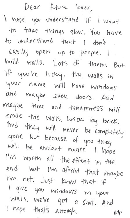 letters to myself