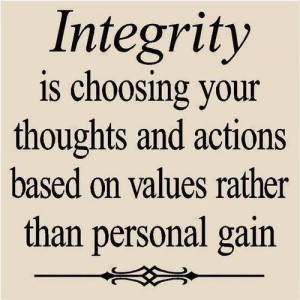capitalism personal gain integrity