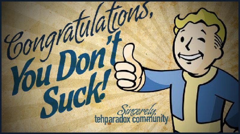 suck do not congrats