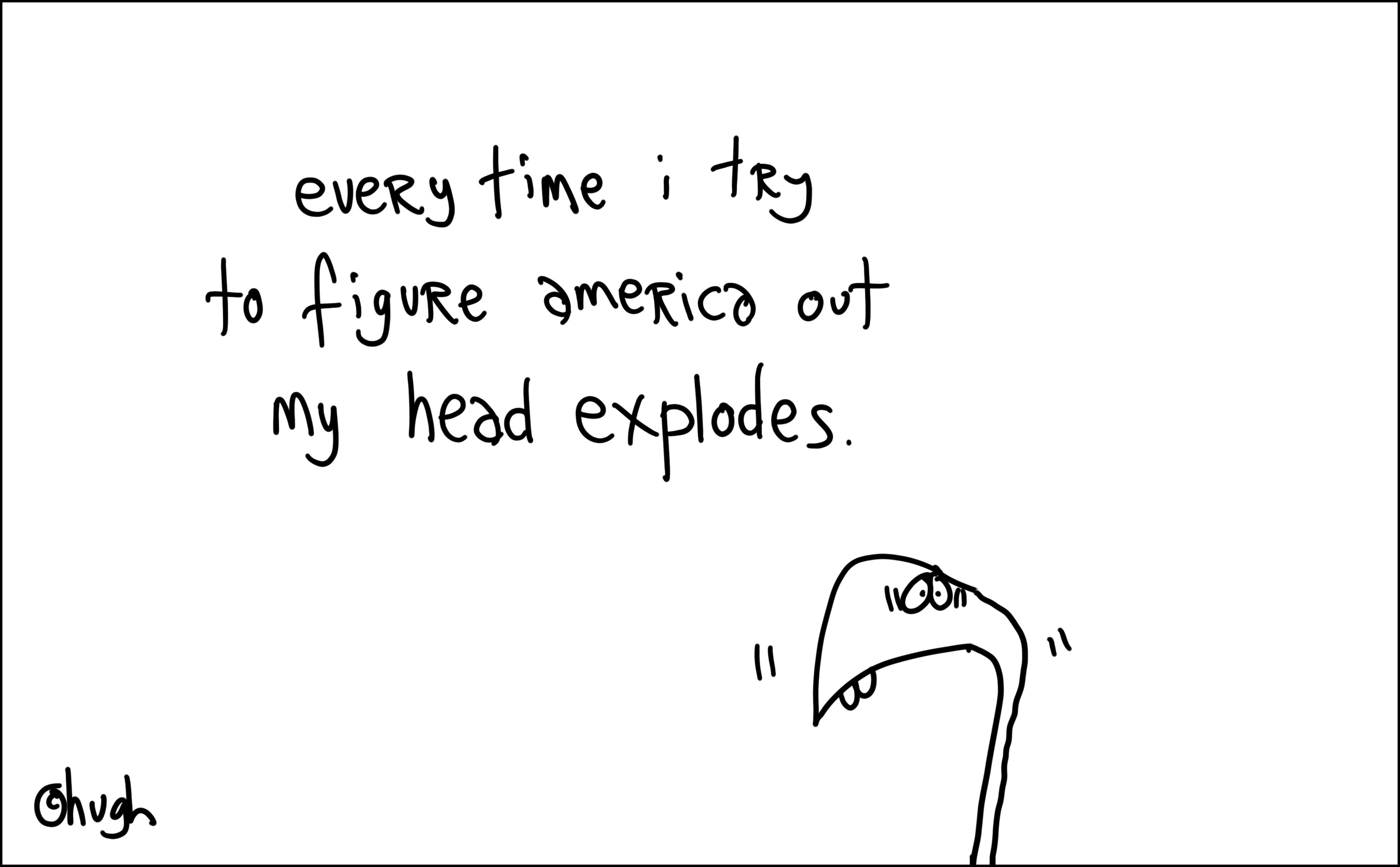 america head explodes