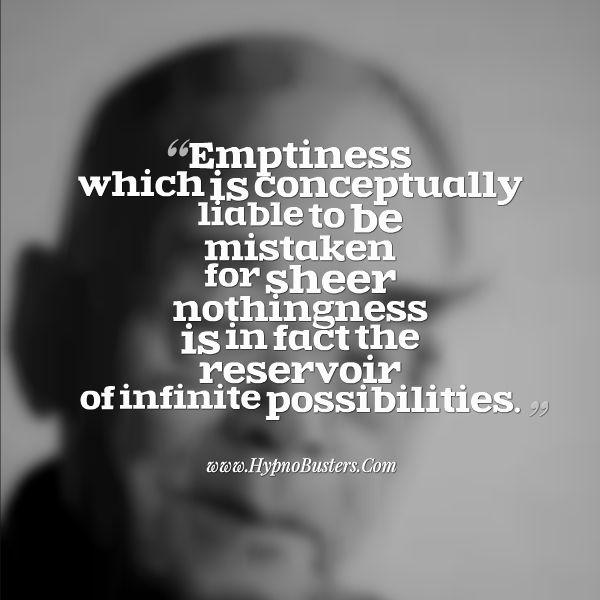 Emptiness infinite