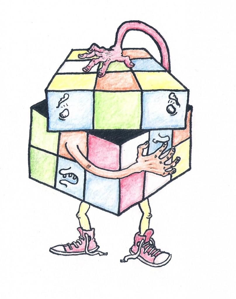 complex person rubix cube ichi nichi