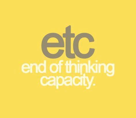 lazy thinking etc