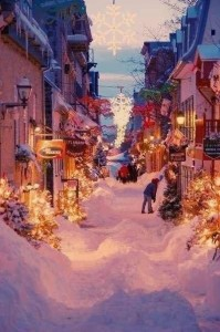 christmas city street