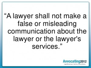 lawyer misleading