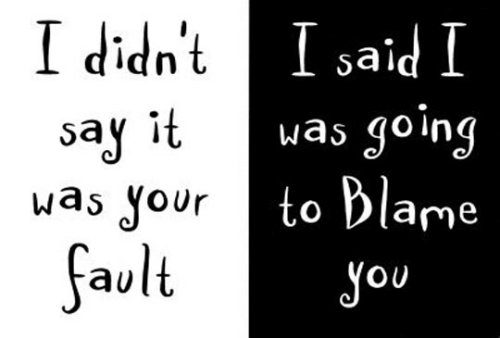 Accountability blame fault