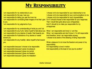 accountability responsibility affirmations