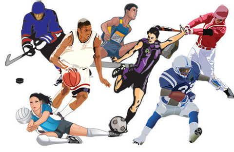 athletes -collage
