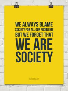 society blame responsibility