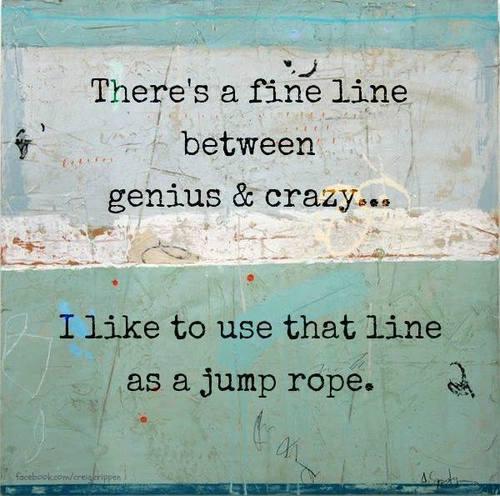 genius crazy line
