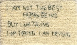 trying human being