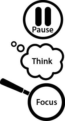pause thin focus