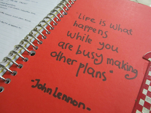 busy making plans notebook