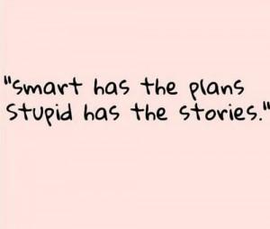 smart stupid plans stories