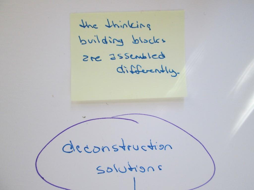 retrain thought building deconstruct