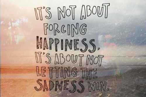 sadness will not win attitude