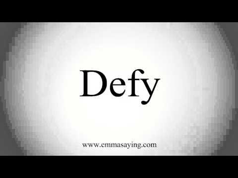 defy word defiance