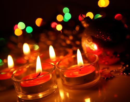 candle xmas lit