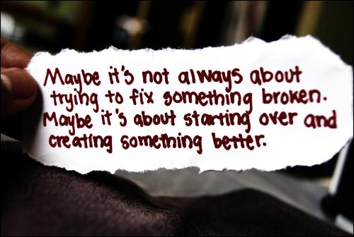 fix start over something better