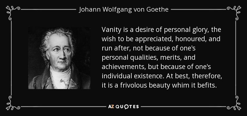 frivolous vanity