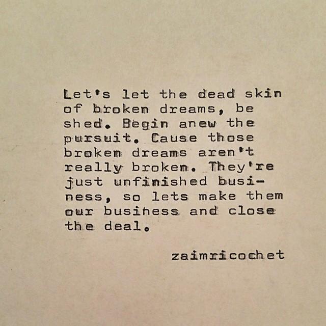 unfinished dreams zaimricochet