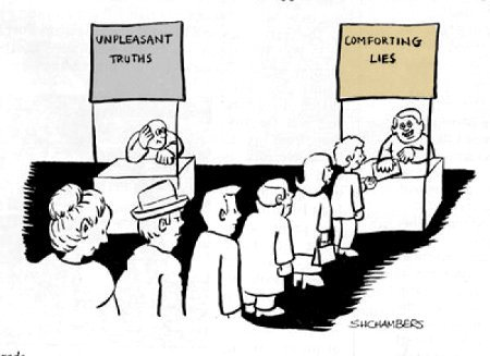 unpleasant truths comforting lies marketing
