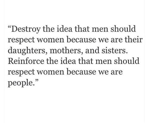 respect women feminism