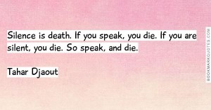 silence speak death die