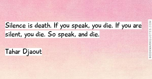 silence speak death die