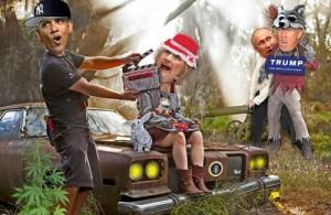 putin-trump-hillary-obama