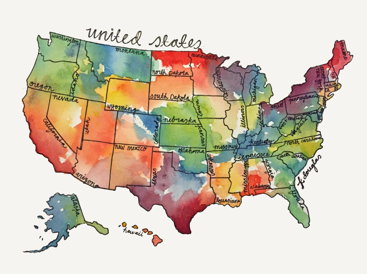 A Healthy Perspective Enlightened Conflict - Map united states color
