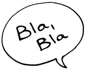 empty words bla bla