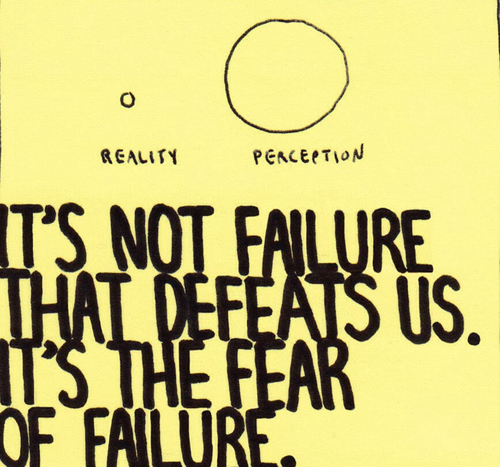reality perception fear defeats us failure