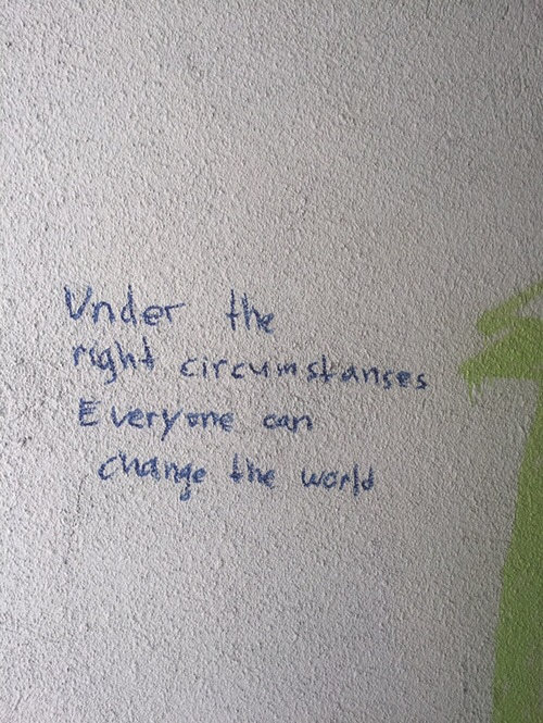 settle reach under the right circumstances anyone can change world