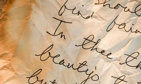 Handwritten poetry