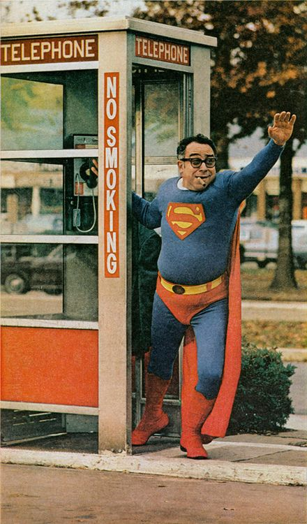 superman phone booth common person help