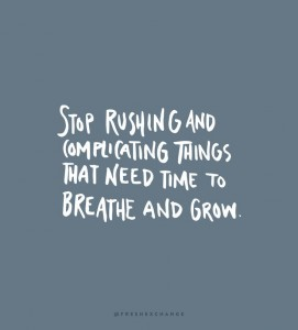 stop rushing success overnight time persistent